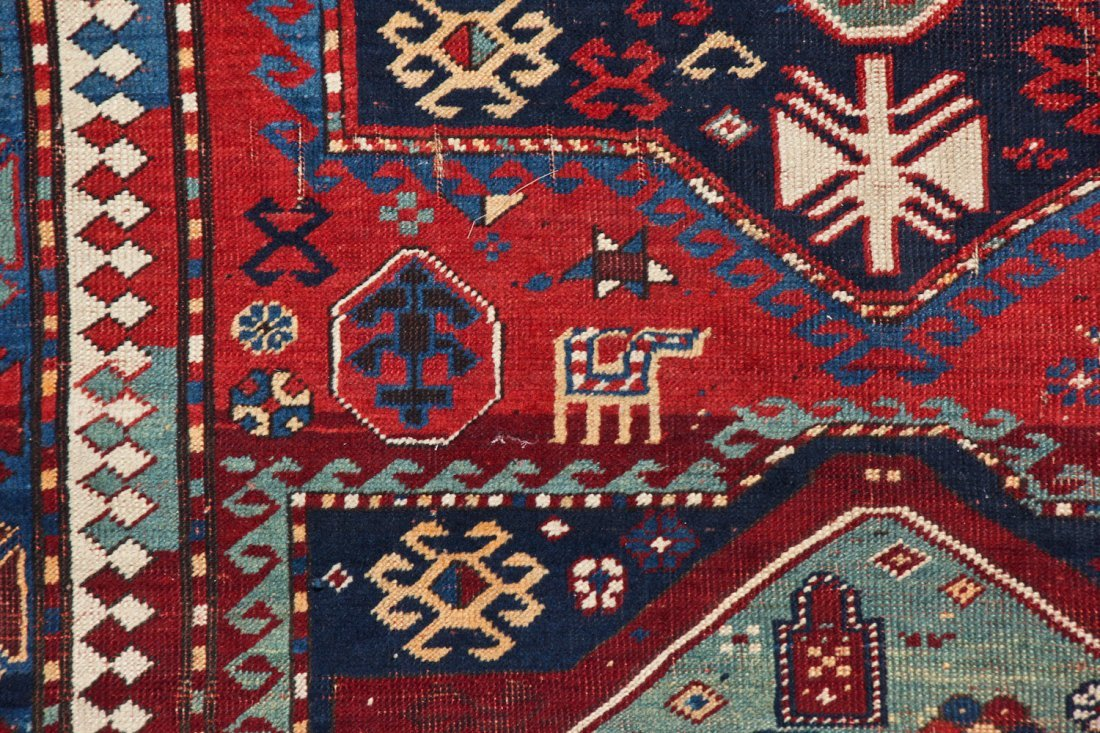 Antique Kazak Rug: 5'2'' x 7'8'' (157 x 234 cm) - 3