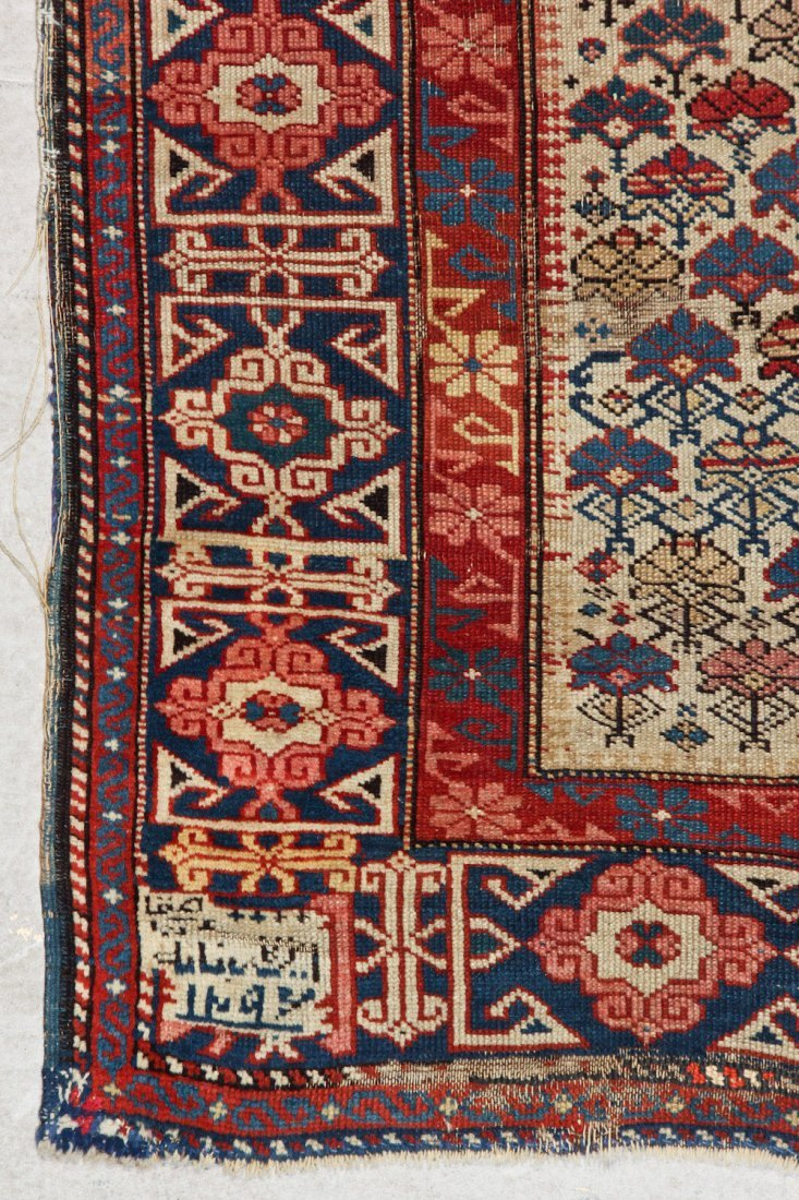 Antique Shirvan Rug: 3'2'' x 4'11'' (97 x 150 cm) - 2