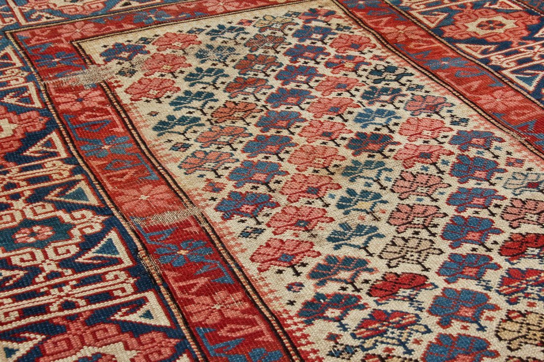 Antique Shirvan Rug: 3'2'' x 4'11'' (97 x 150 cm) - 3