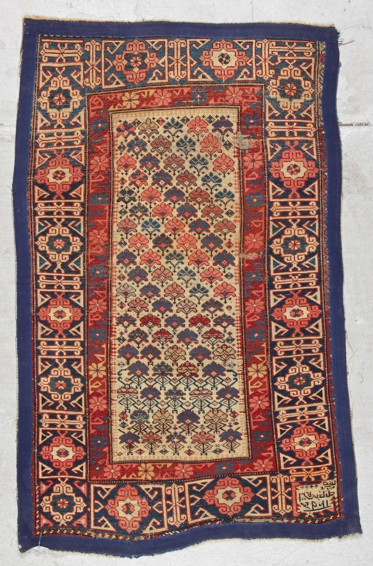 Antique Shirvan Rug: 3'2'' x 4'11'' (97 x 150 cm) - 6
