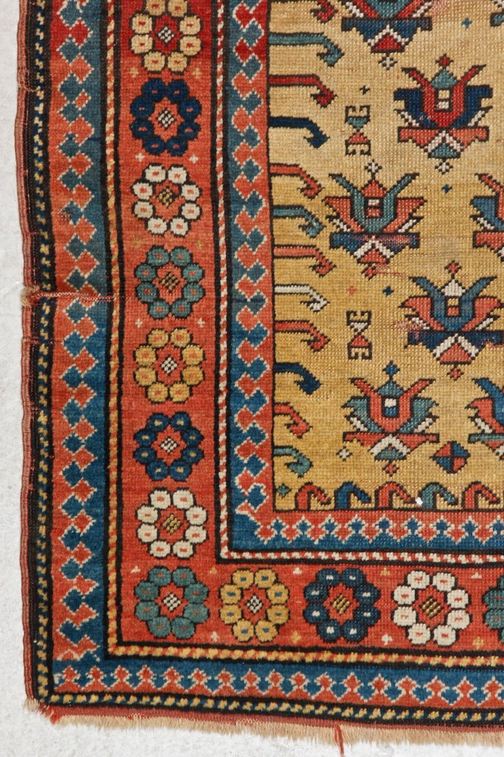 Antique Kazak Prayer Rug: 3'4'' x 5'6'' (102 x 168 cm) - 2