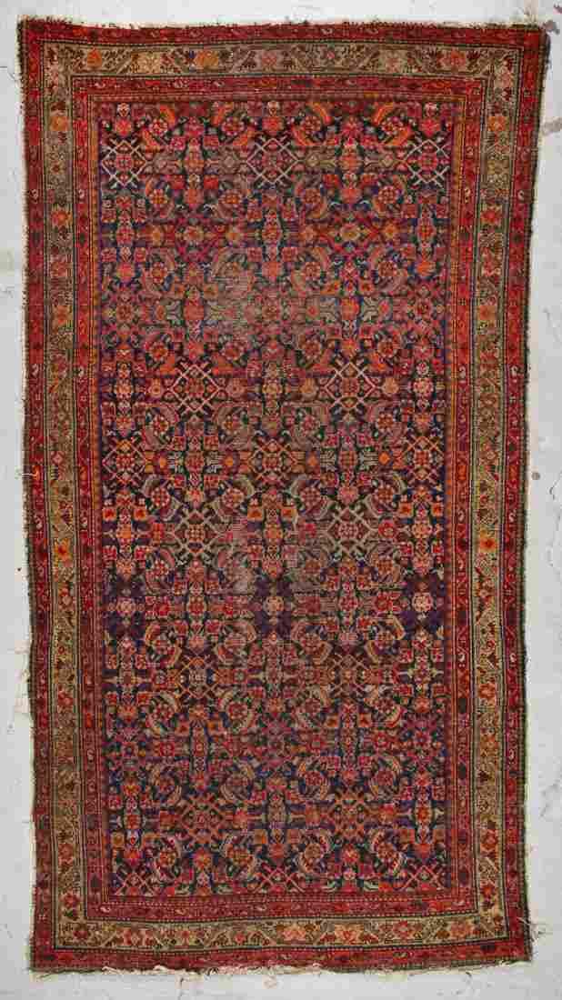 Antique Hamadan Rug: 5'3'' x 9'5'' (160 x 287 cm)