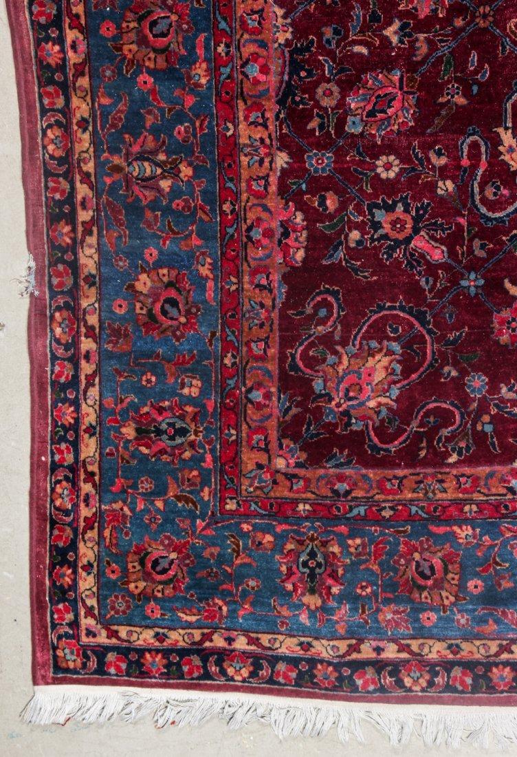 Antique Kerman Rug: 9'4'' x 11'10'' (284 x 361 cm) - 2