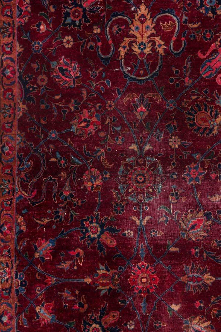 Antique Kerman Rug: 9'4'' x 11'10'' (284 x 361 cm) - 3