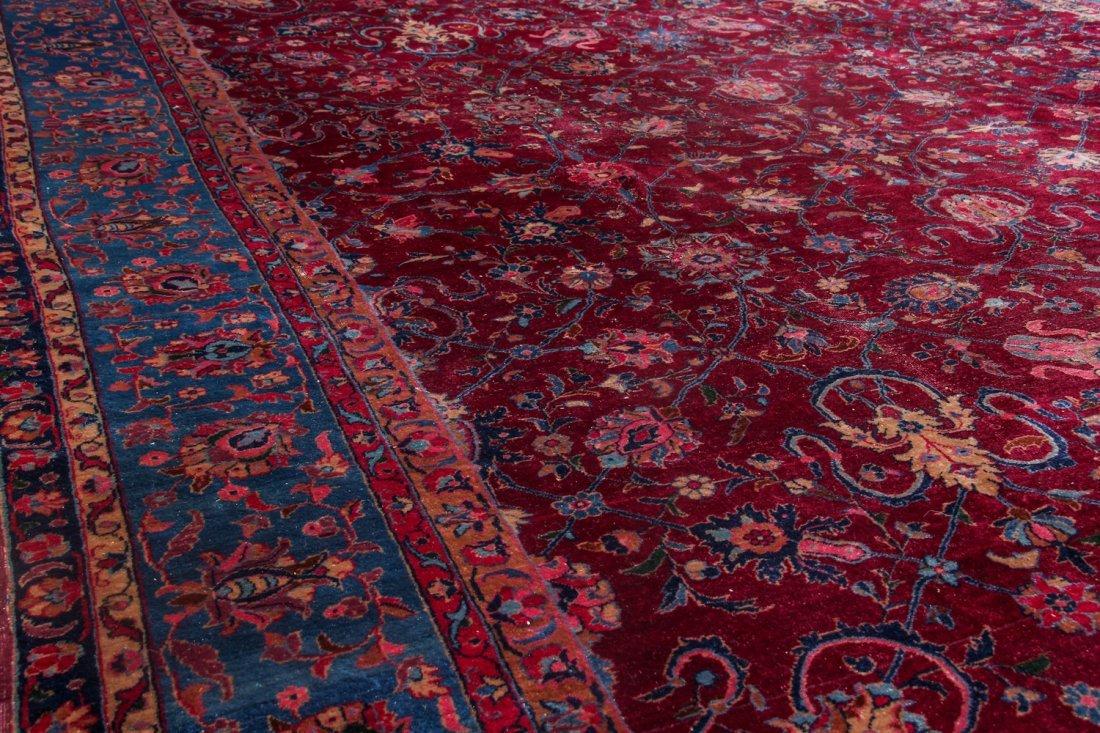 Antique Kerman Rug: 9'4'' x 11'10'' (284 x 361 cm) - 4