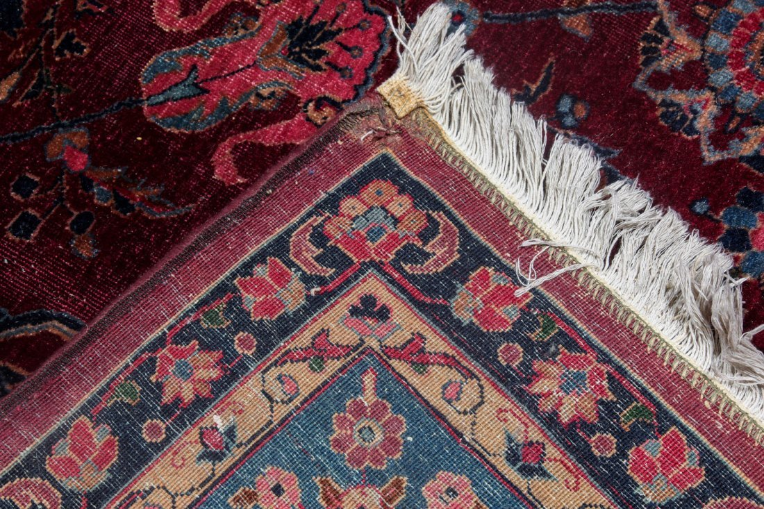 Antique Kerman Rug: 9'4'' x 11'10'' (284 x 361 cm) - 5