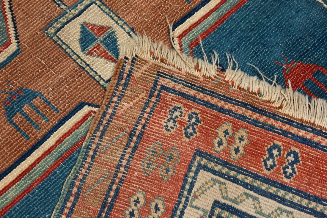 Antique Avar Rug: 3'3'' x 4'5'' (99 x 135 cm) - 4