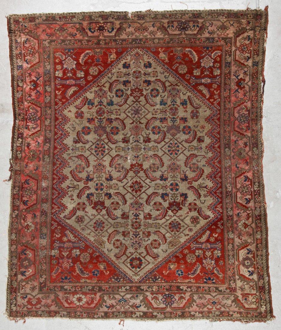 Antique Malayer Rug: 5'1'' x 6'0'' (155 x 183 cm)