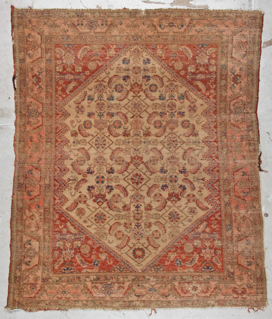 Antique Malayer Rug: 5'1'' x 6'0'' (155 x 183 cm) - 6