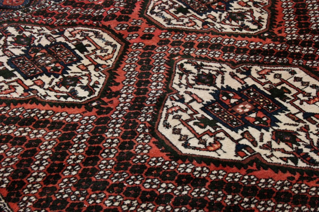 Semi-Antique Afshar Rug: 5'1'' x 6'3'' (155 x 191 cm) - 3