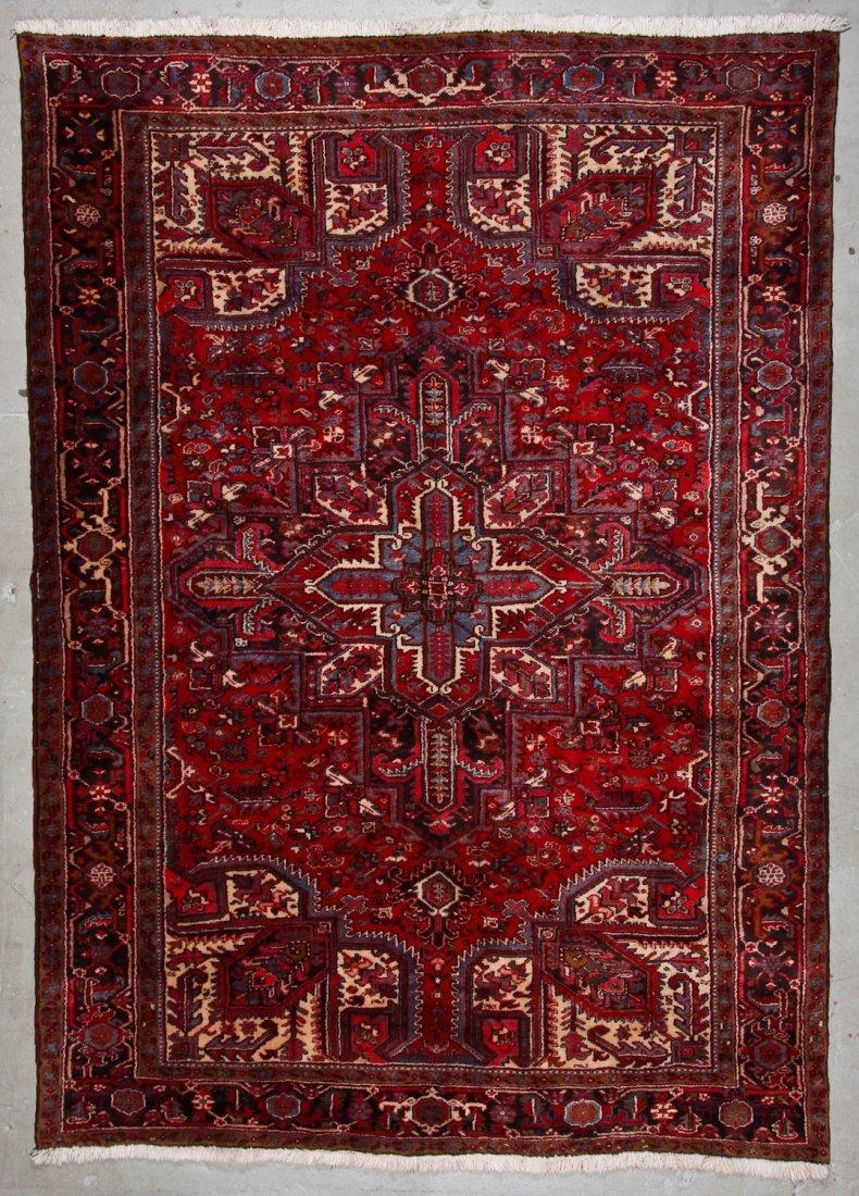 Vintage Heriz Rug: 7'3'' x 10'3'' (221 x 312 cm)
