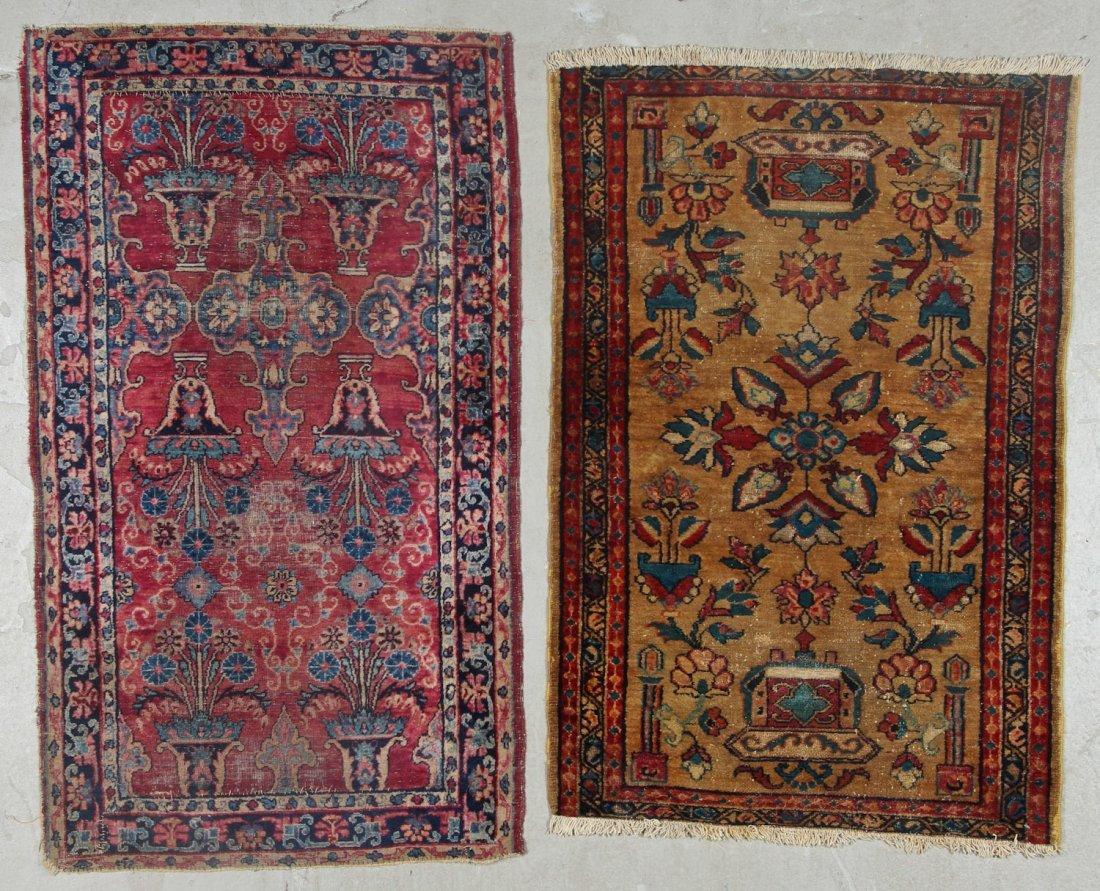 2 Antique Persian Hamadan Rugs