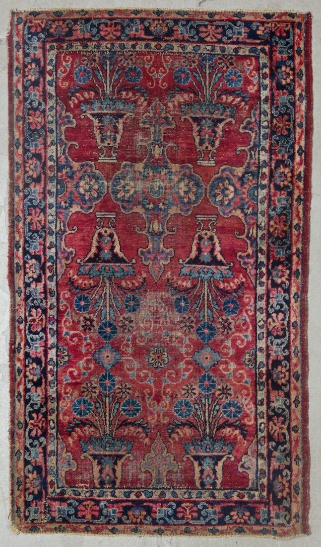 2 Antique Persian Hamadan Rugs - 2