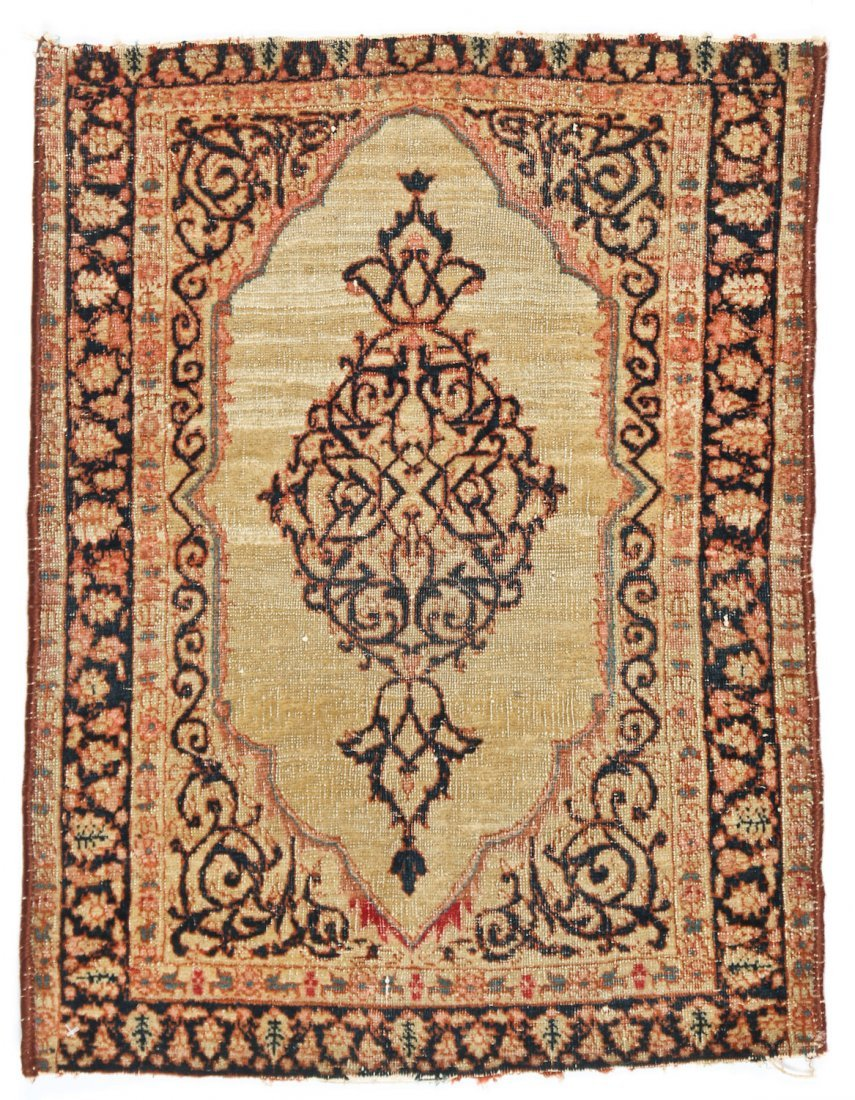 2 Small Antique Lavar and Senneh Rugs - 2