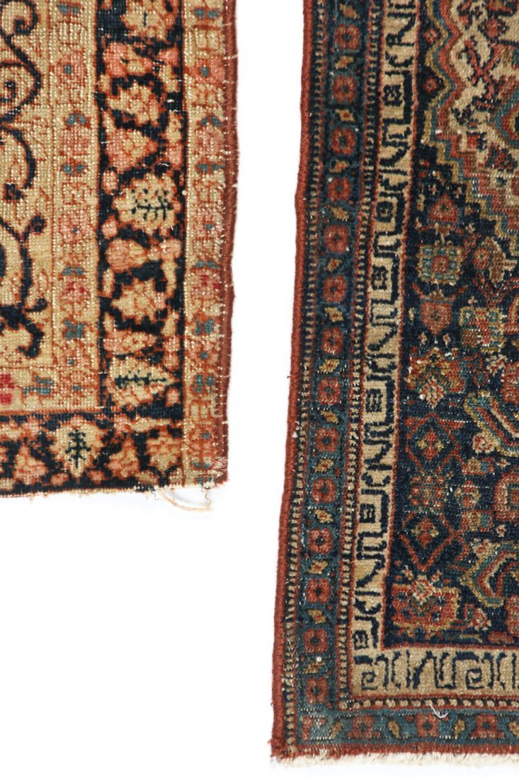 2 Small Antique Lavar and Senneh Rugs - 4