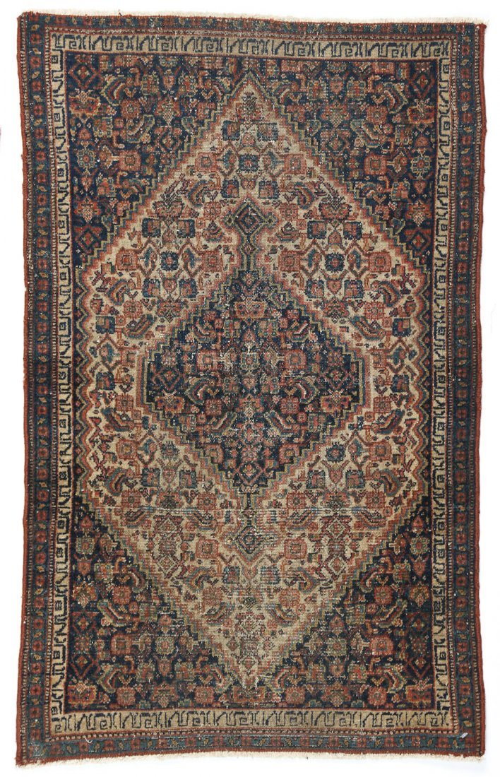 2 Small Antique Lavar and Senneh Rugs - 5