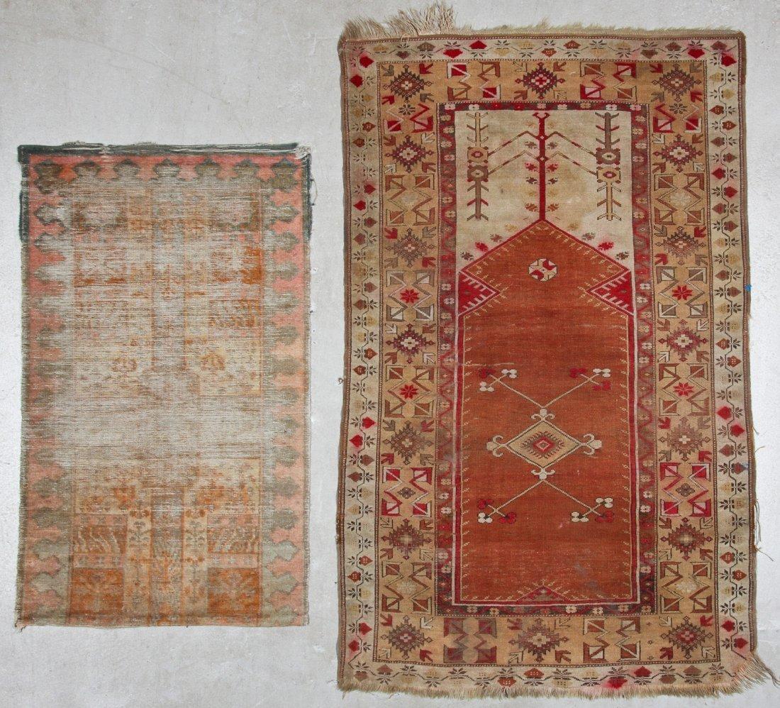 Antique Oushak and Semi-Antique Milas Rugs (2)