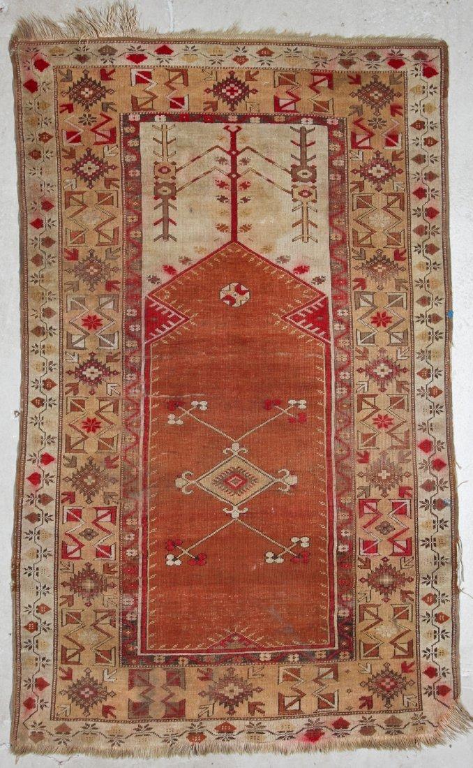 Antique Oushak and Semi-Antique Milas Rugs (2) - 4
