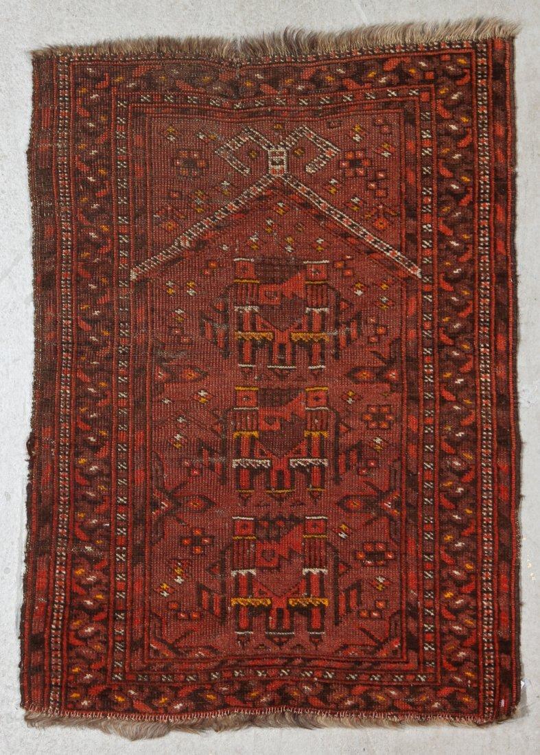 3 Semi-Antique/Vintage Afghan & Caucasian Rugs - 2