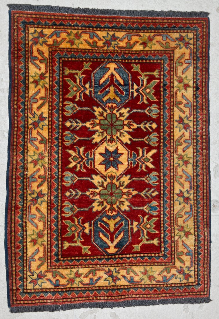 3 Semi-Antique/Vintage Afghan & Caucasian Rugs - 4