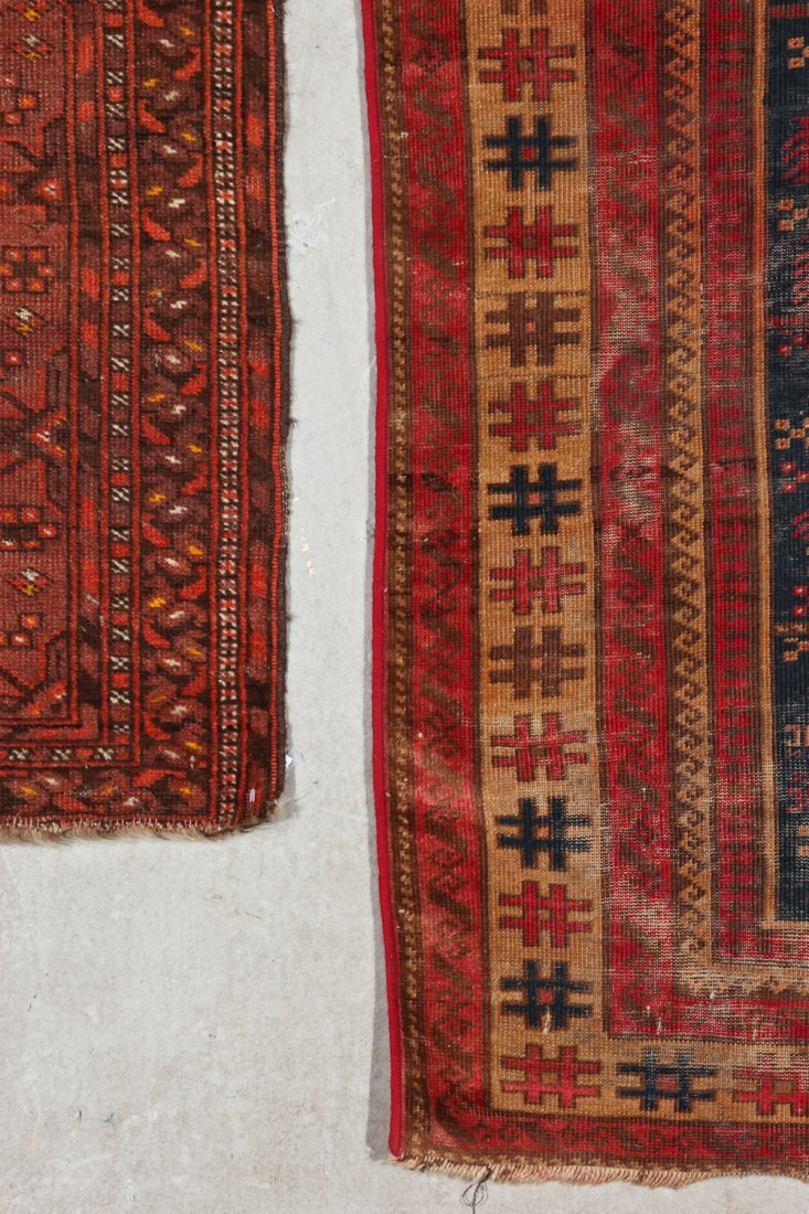 3 Semi-Antique/Vintage Afghan & Caucasian Rugs - 5