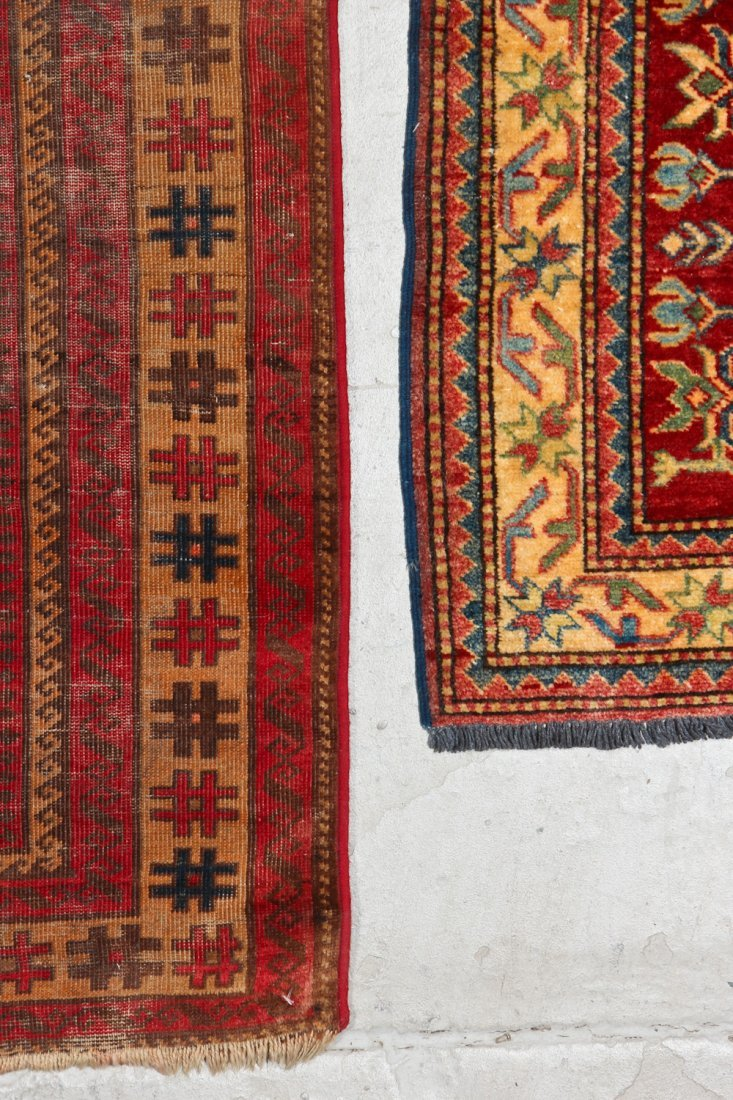 3 Semi-Antique/Vintage Afghan & Caucasian Rugs - 6