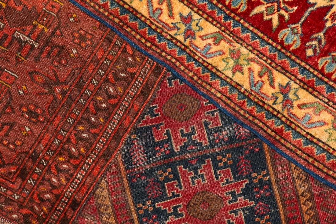 3 Semi-Antique/Vintage Afghan & Caucasian Rugs - 7