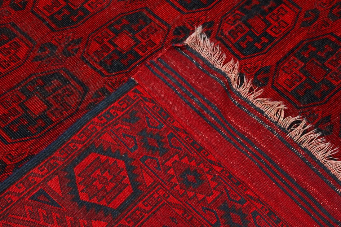 2 Semi-Antique Afghan Main Rugs - 4