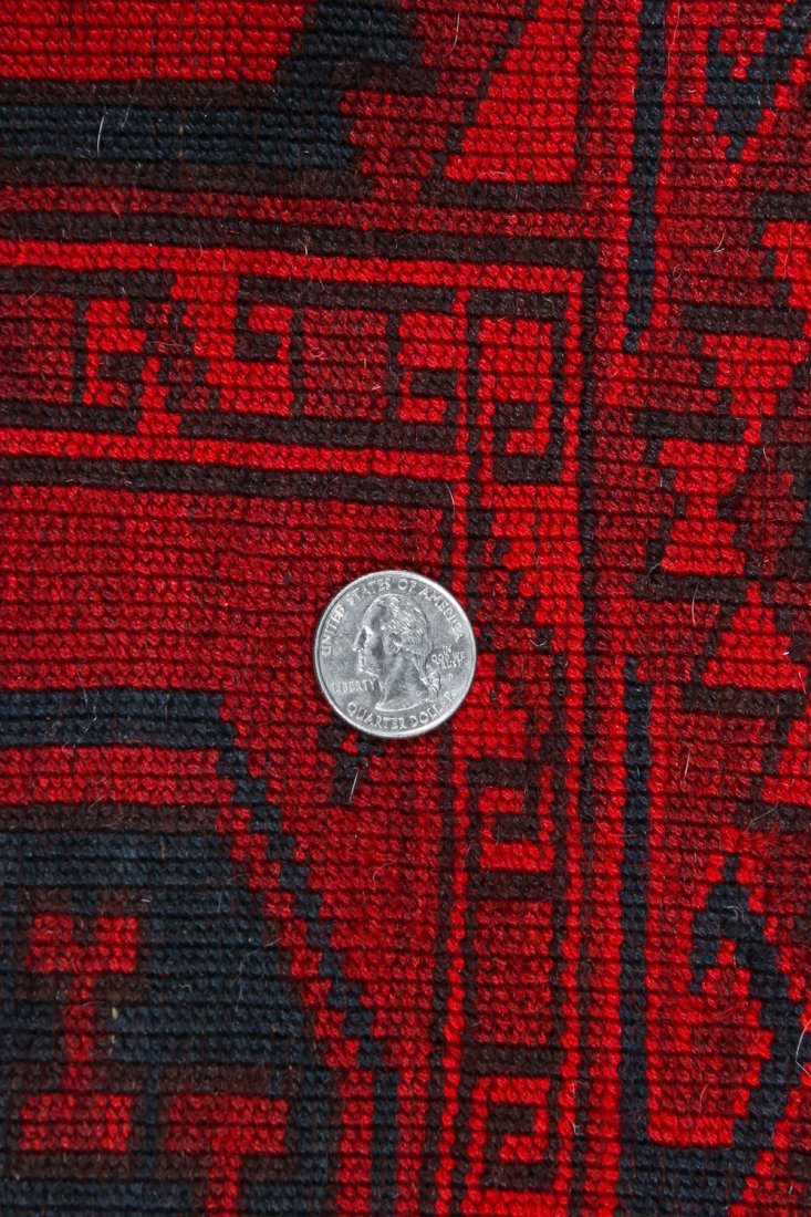 2 Semi-Antique Afghan Main Rugs - 5