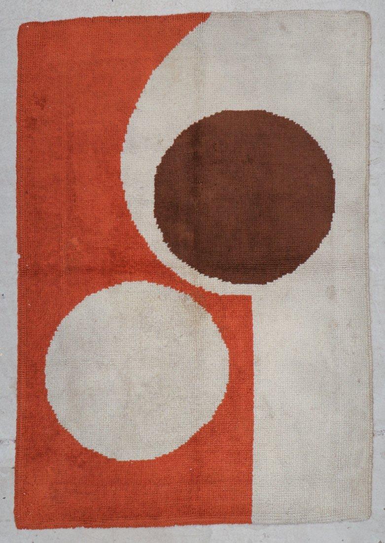 Vintage Mid Century Modern Rug: 3'11'' x 5'7'' (119 x