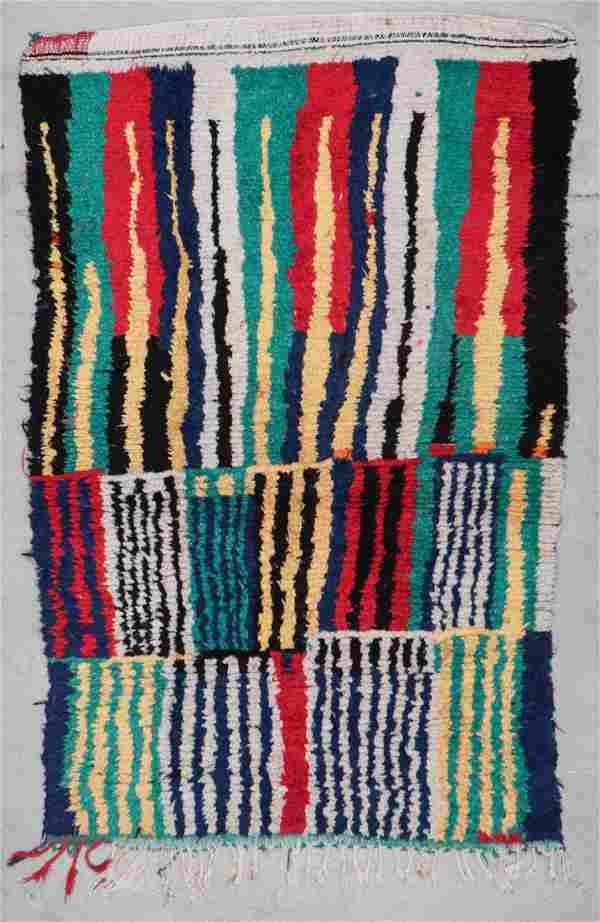 Vintage Moroccan Rug: 4'2'' x 6'7'' (127 x 201 cm)