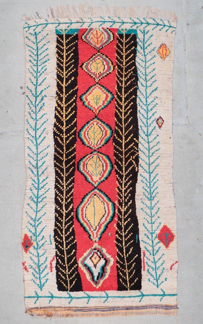Vintage Moroccan Rug: 4'0'' x 8'0'' (122 x 244 cm)