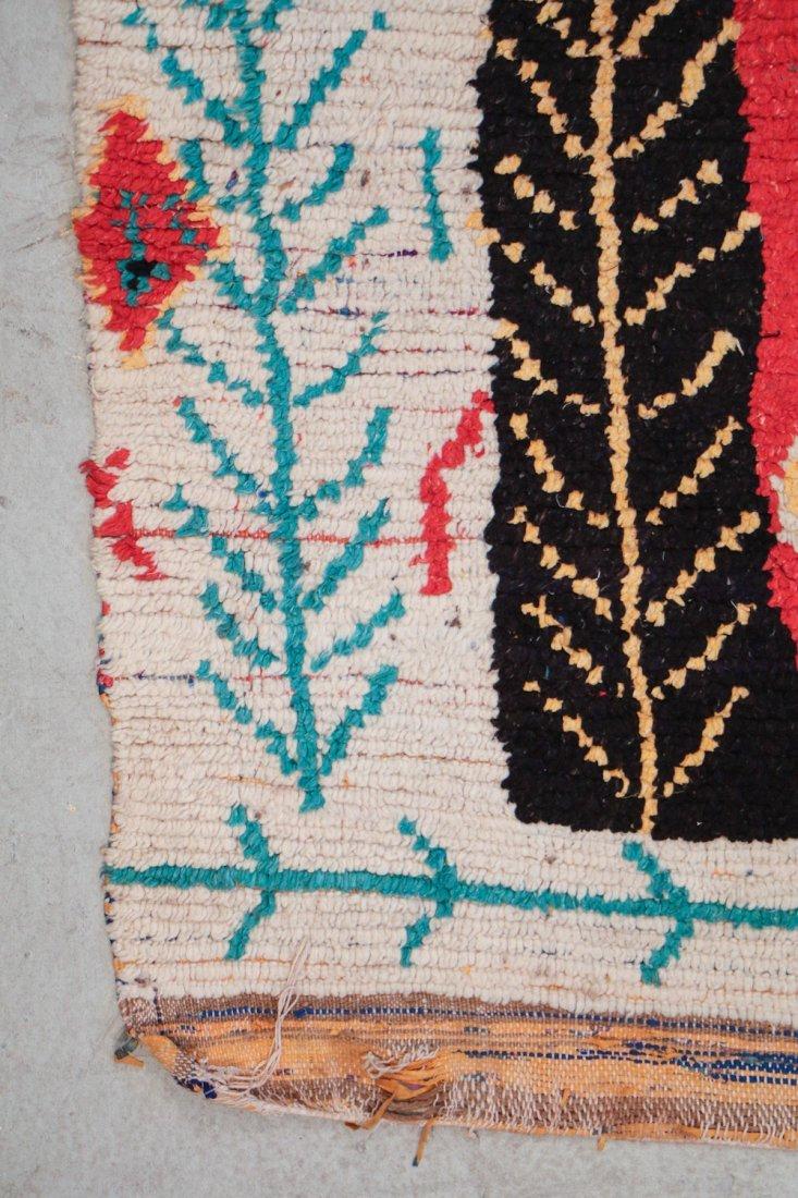 Vintage Moroccan Rug: 4'0'' x 8'0'' (122 x 244 cm) - 2