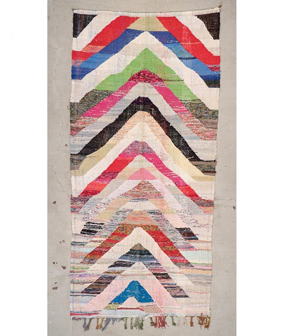 Vintage Moroccan Flatweave: 5'1'' x 10'11'' (155 x 333