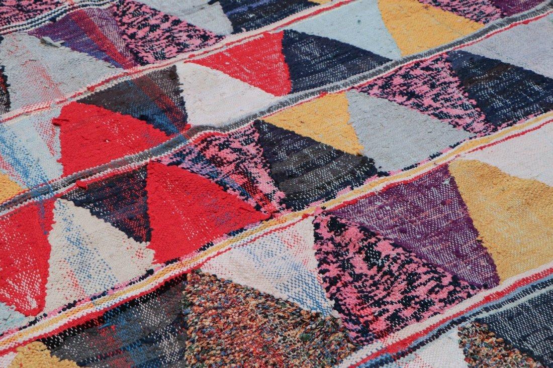 Vintage Moroccan Flatweave: 4'8'' x 9'11'' (142 x 302 - 3
