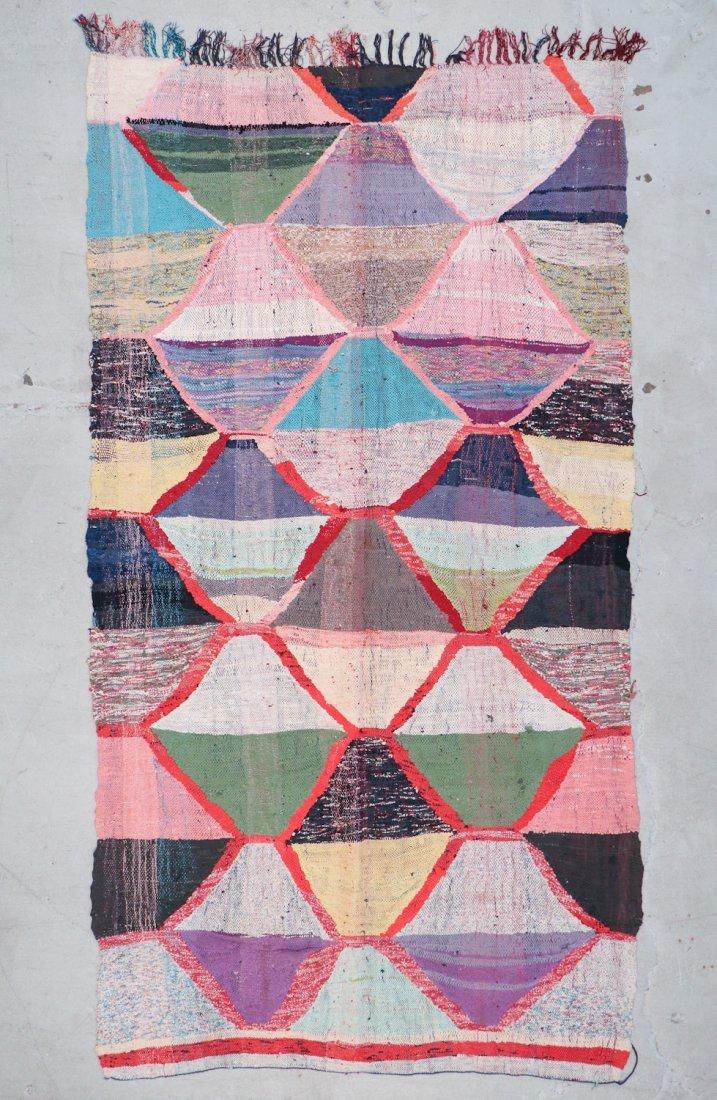 Vintage Moroccan Flatweave: 5'7'' x 10'3'' (170 x 312