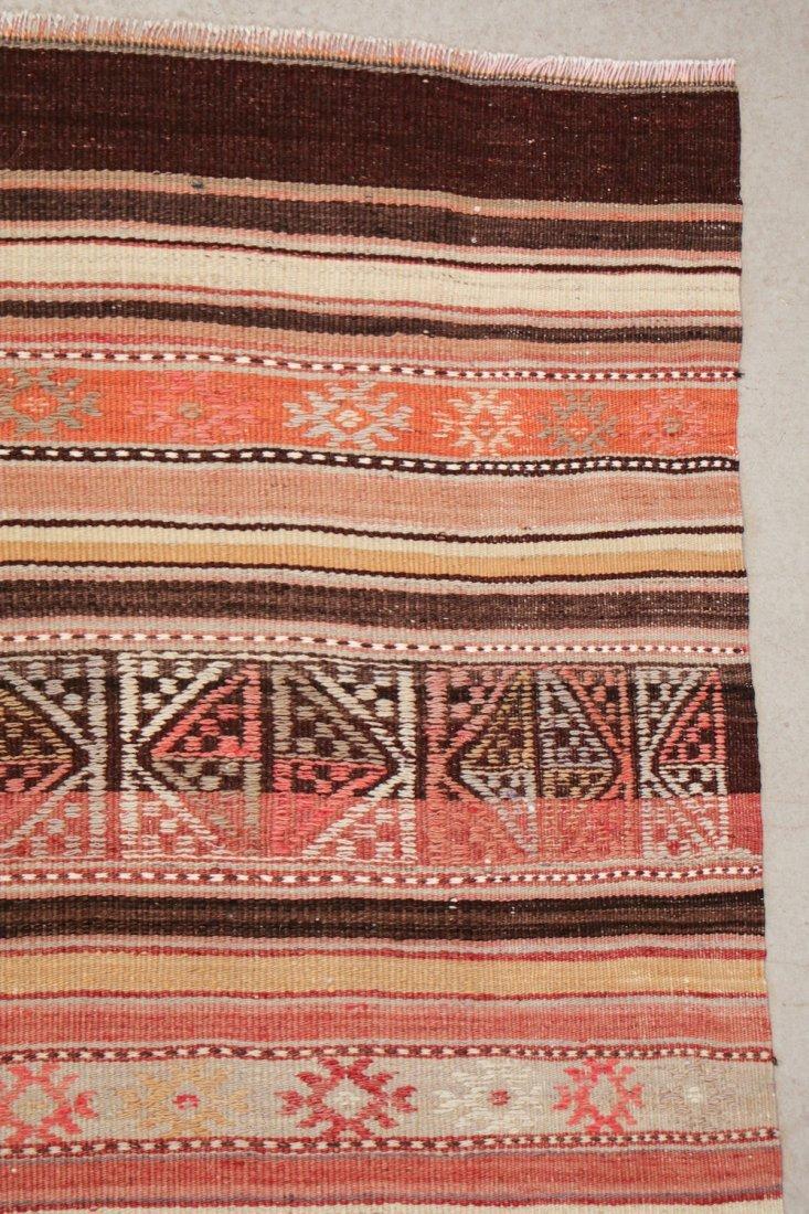 Semi-Antique Turkish Djidjim/Kilim: 4'10'' x 7'5'' (147 - 2