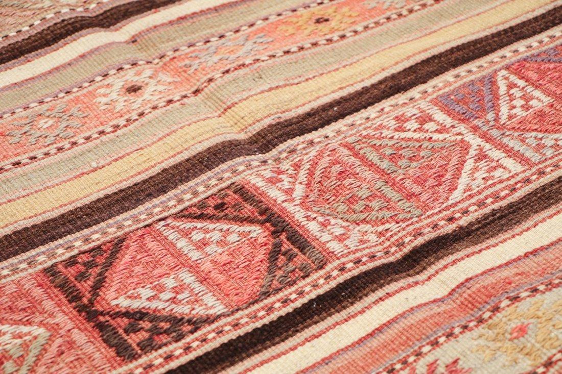 Semi-Antique Turkish Djidjim/Kilim: 4'10'' x 7'5'' (147 - 3