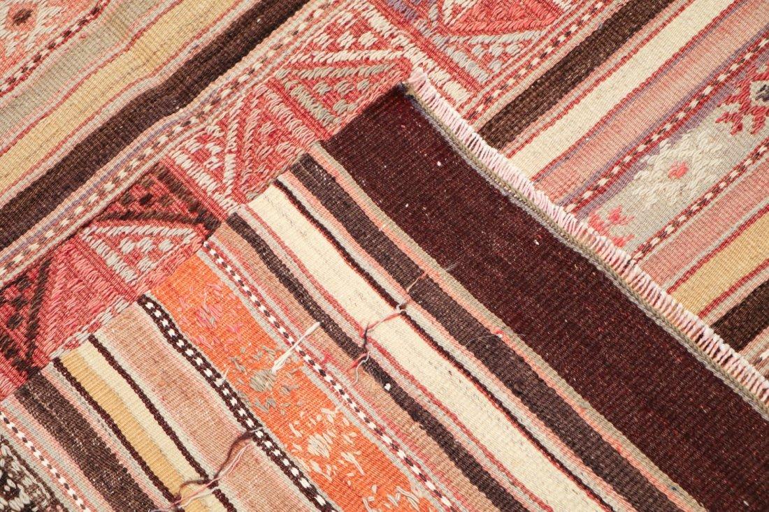 Semi-Antique Turkish Djidjim/Kilim: 4'10'' x 7'5'' (147 - 4