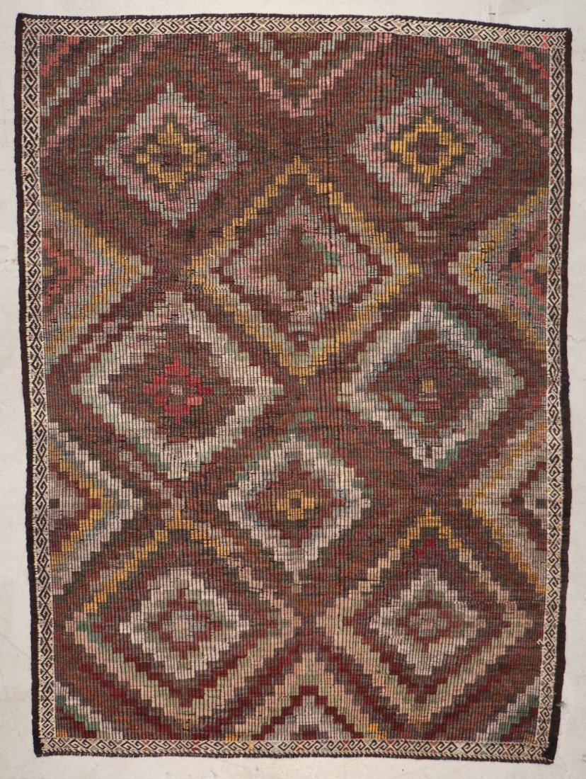 Semi-Antique Turkish Djidjim/Kilim: 6'8'' x 9'1'' (203