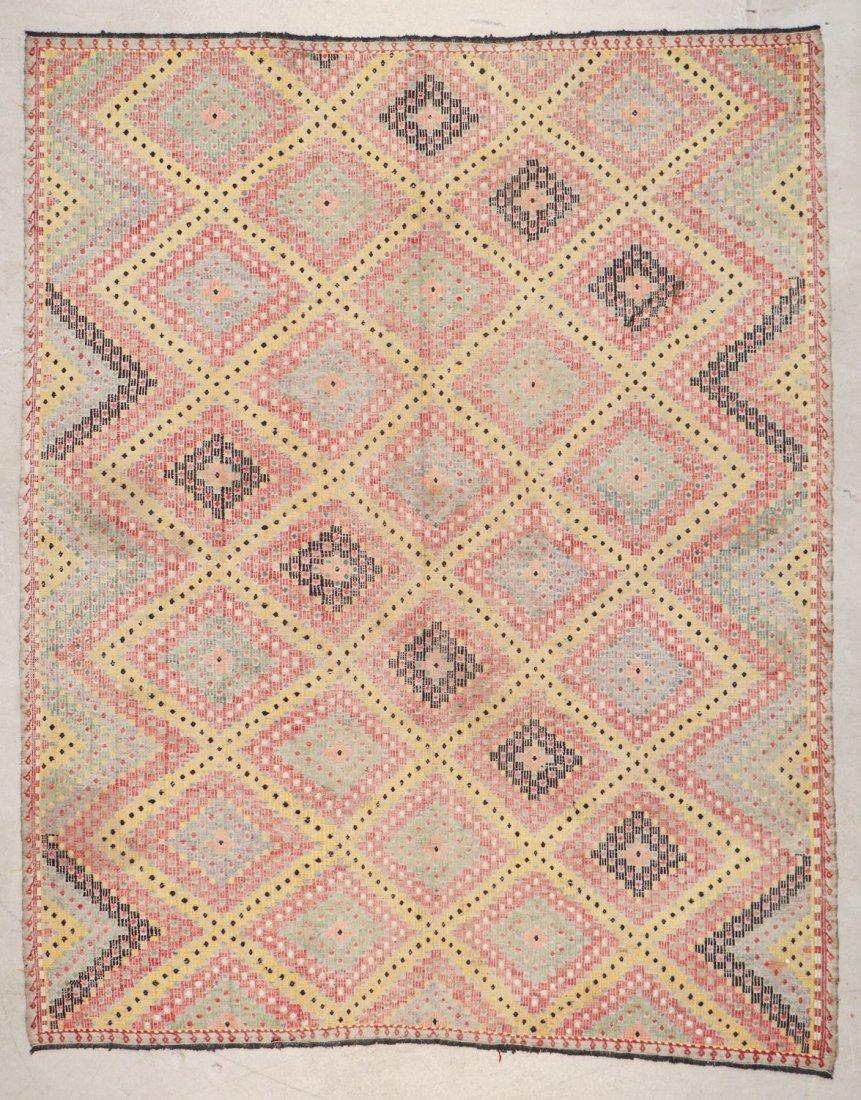 Semi-Antique Turkish Djidjim/Kilim: 6'9'' x 8'3'' (206
