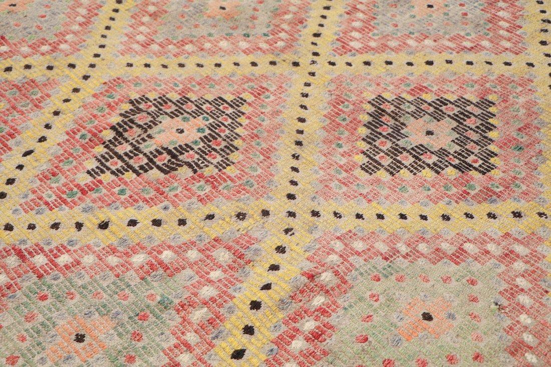 Semi-Antique Turkish Djidjim/Kilim: 6'9'' x 8'3'' (206 - 3