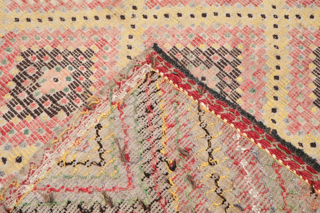 Semi-Antique Turkish Djidjim/Kilim: 6'9'' x 8'3'' (206 - 4