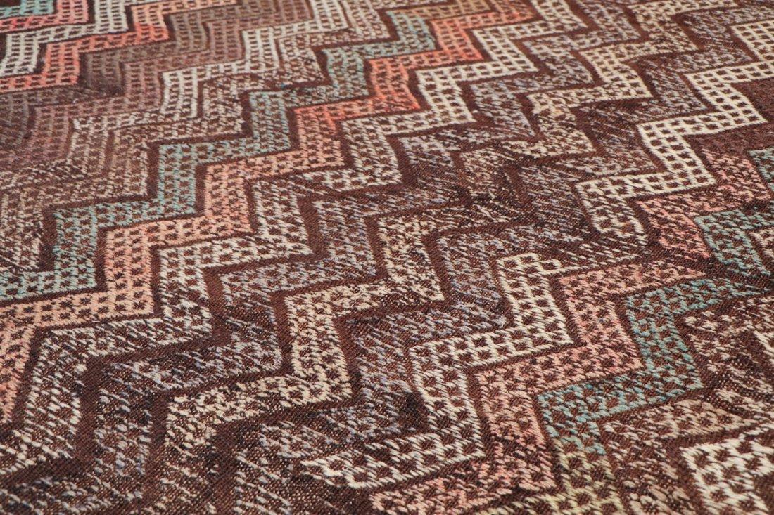 Semi-Antique Turkish Djidjim/Kilim: 7'0'' x 8'0'' (213 - 3