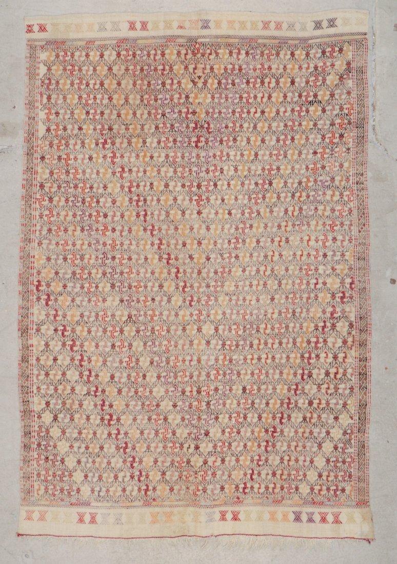 Semi-Antique Turkish Djidjim/Kilim: 4'9'' x 7'0'' (145