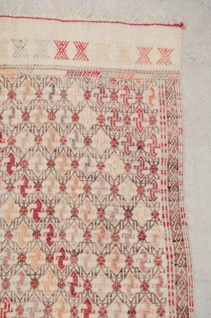 Semi-Antique Turkish Djidjim/Kilim: 4'9'' x 7'0'' (145 - 2