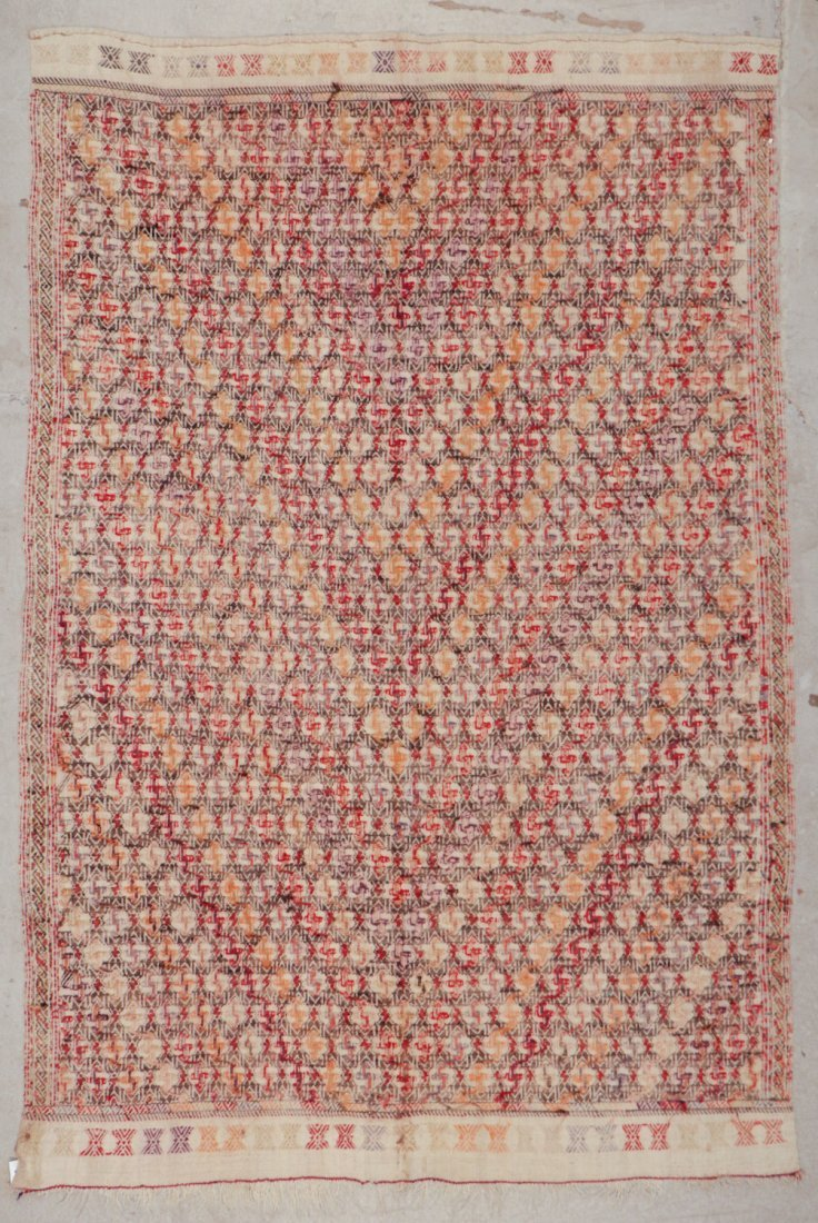 Semi-Antique Turkish Djidjim/Kilim: 4'9'' x 7'0'' (145 - 5