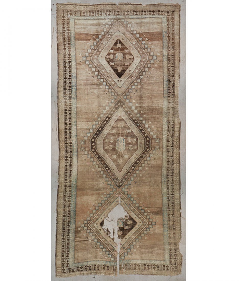 Antique Turkish Village Rug: 8'0'' x 18'0'' (244 x 549