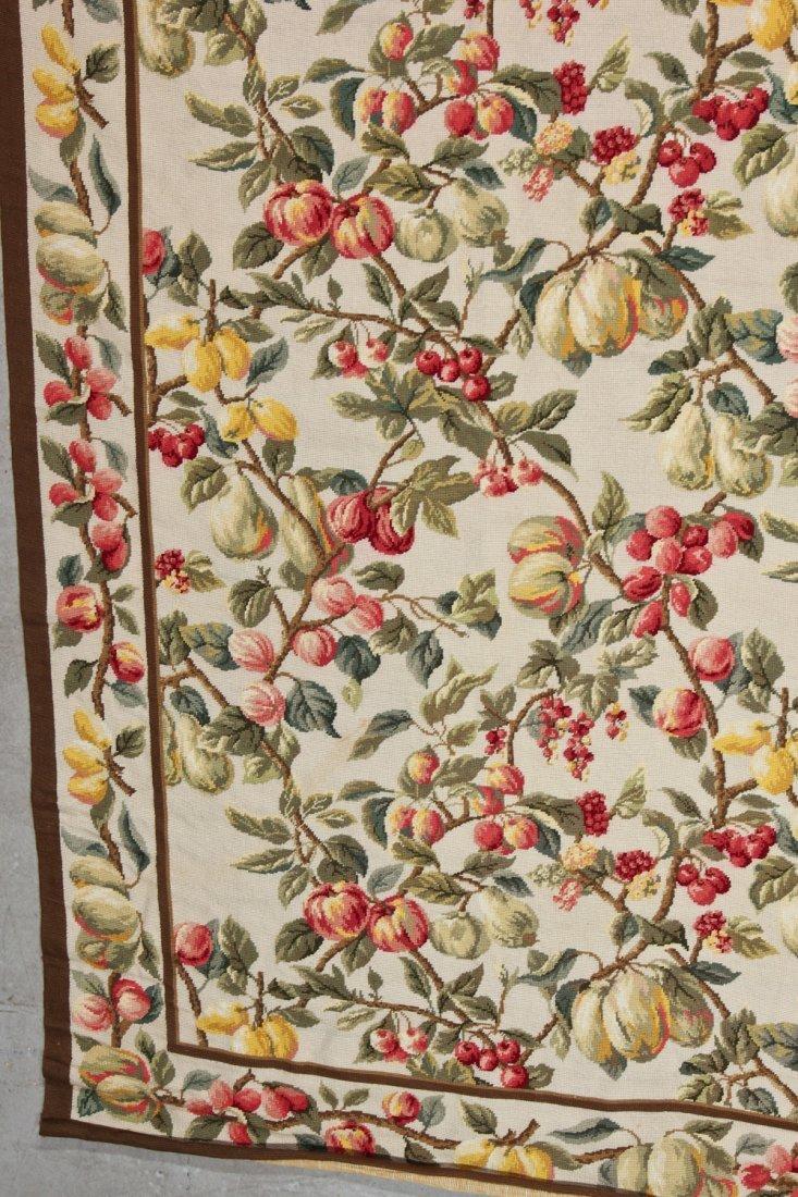 Vintage Continental Wool Needlepoint Rug: 8'9'' x - 2