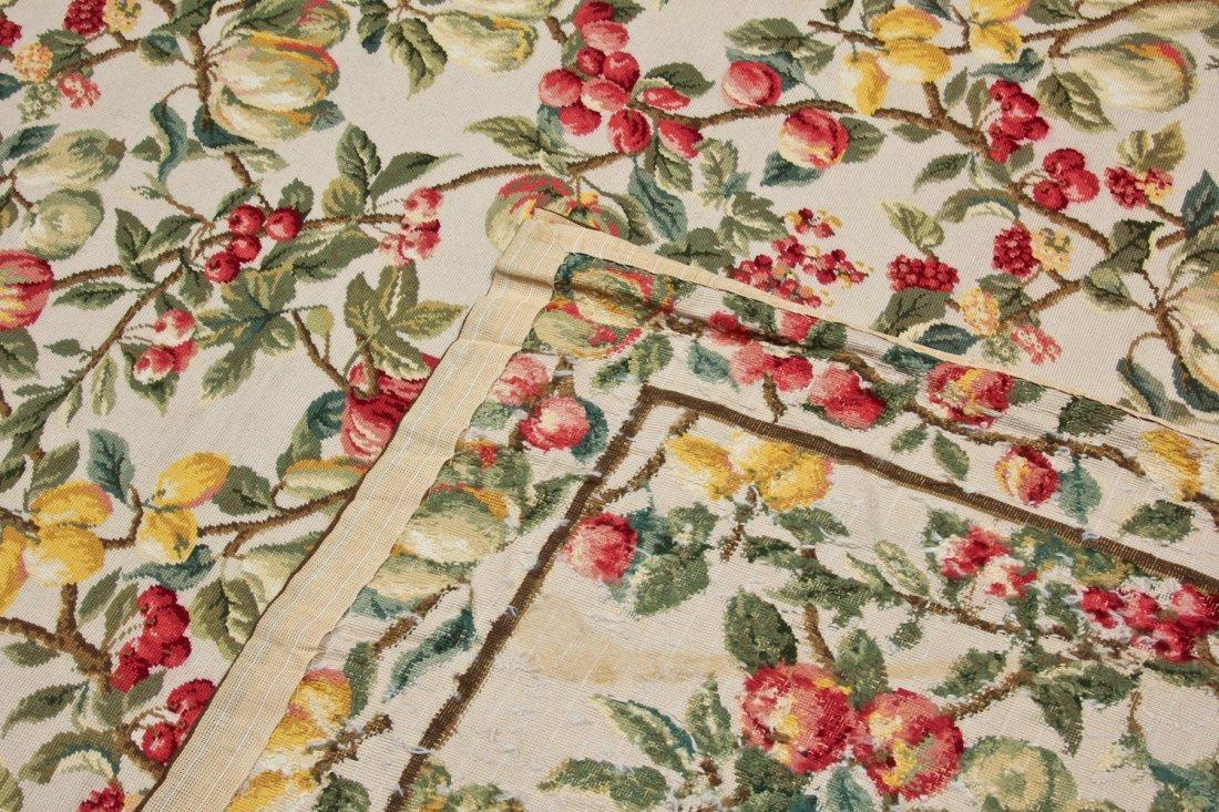 Vintage Continental Wool Needlepoint Rug: 8'9'' x - 4